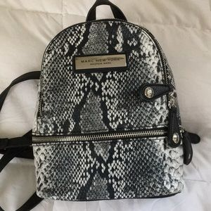 Andrew Marc snake skin backpack  Marc New York